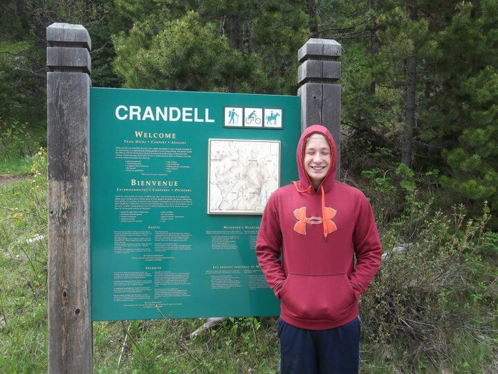 Hiking Crandell in Waterton