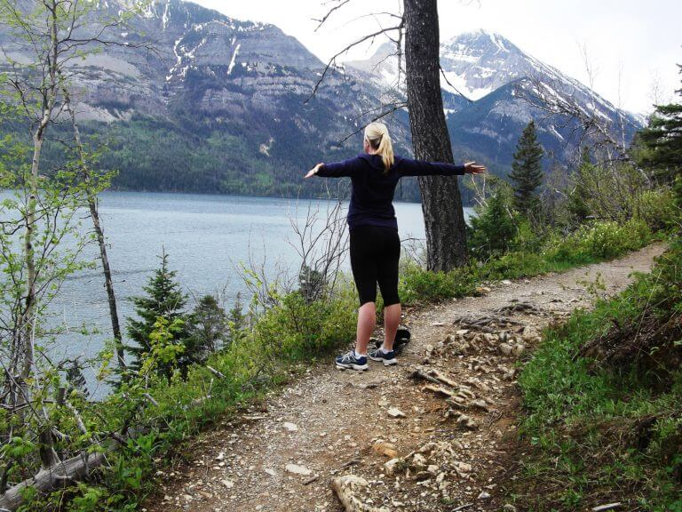 Hiking to Lower Bertha Falls and Waterton Biking