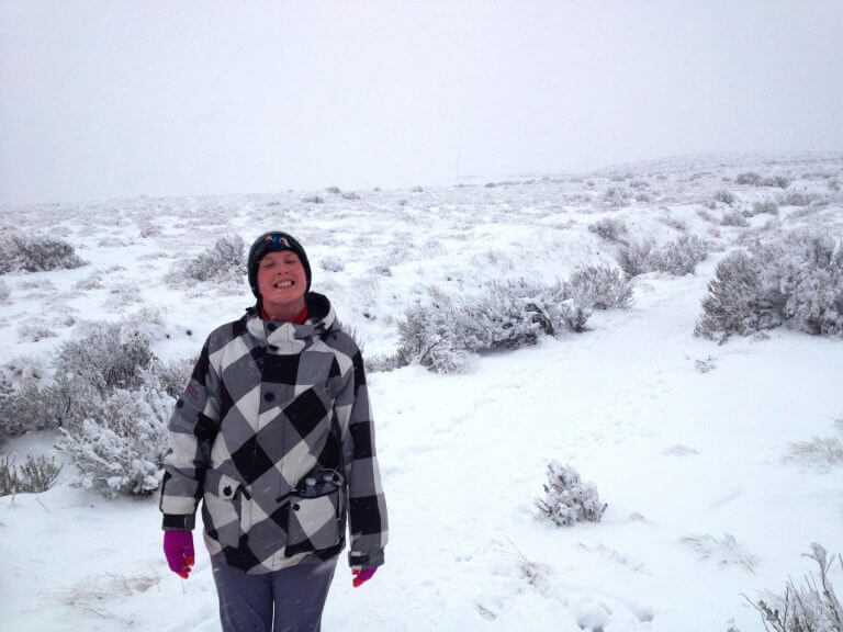 Hiking Badger Mountain in the Snow
