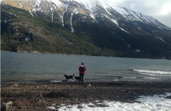 Winter Hike- Waterton Lakeshore Trail