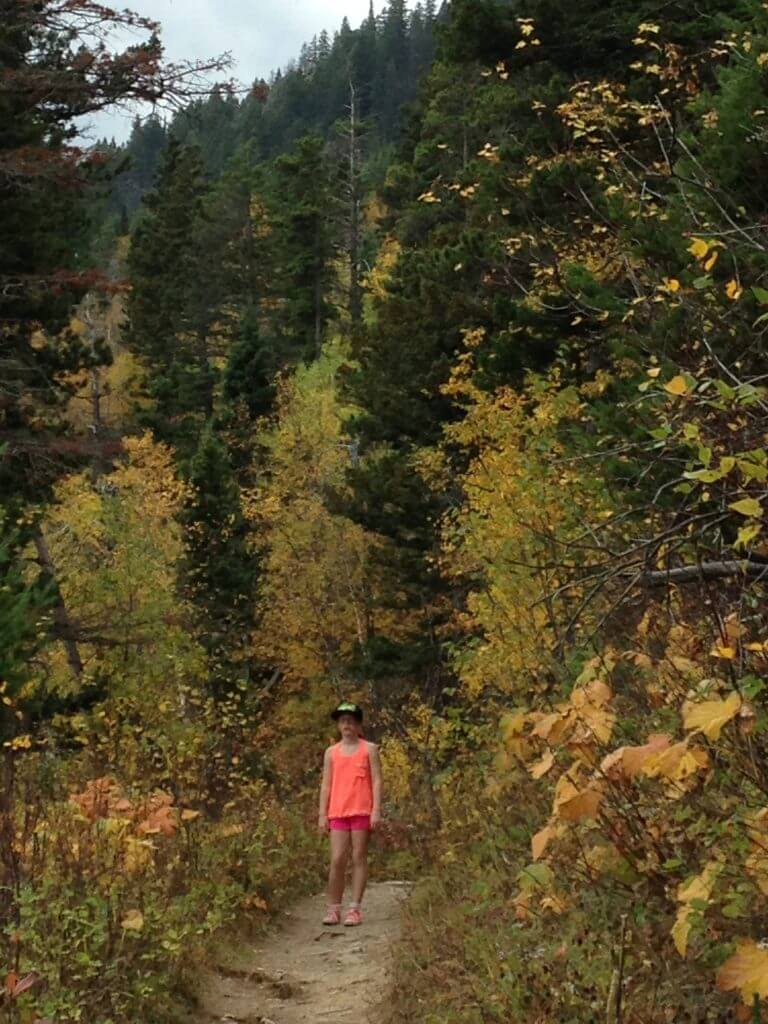 Family Fall Hike in Waterton