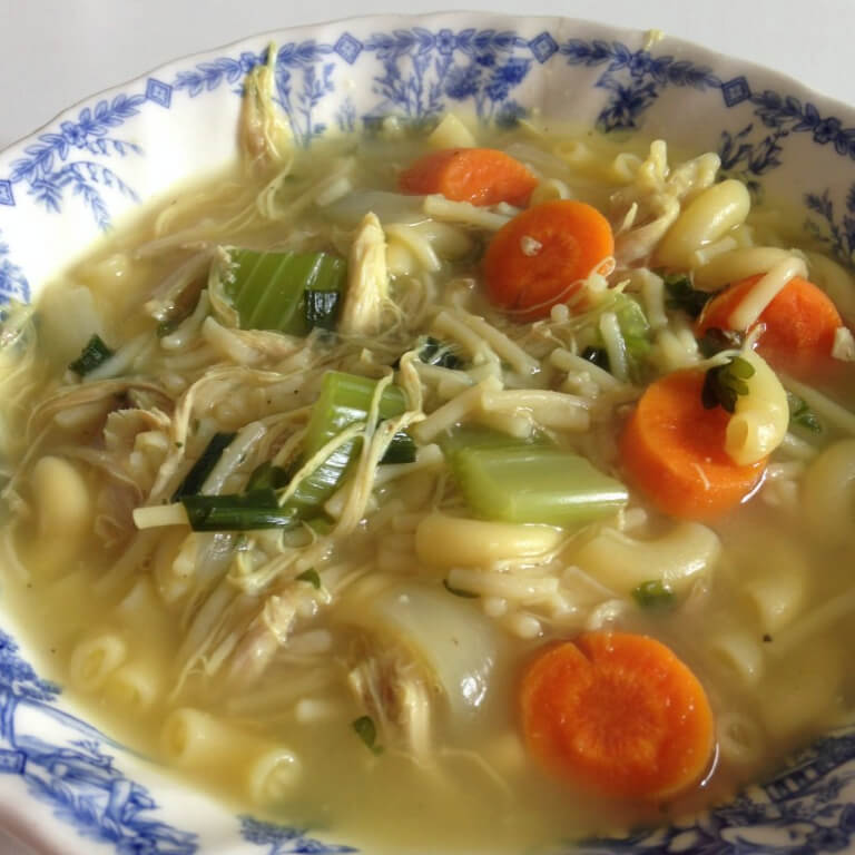 Grandma's Chicken & Veggie Soup Recipe