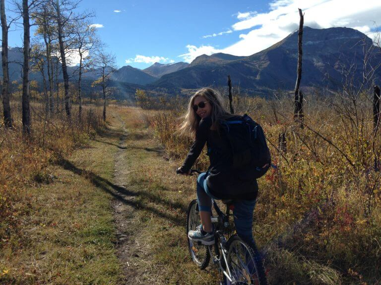 Fall Mountain Biking on the Wishbone Trail