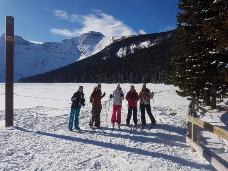 Girls Cross Country Ski Day in Waterton