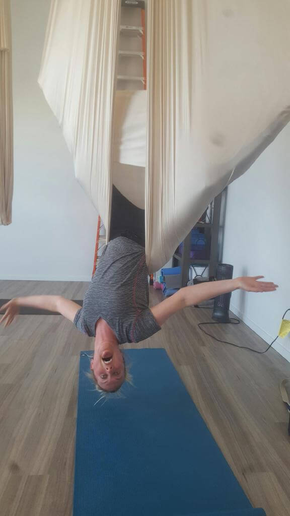 Aerial Yoga is Nauseatingly Fun
