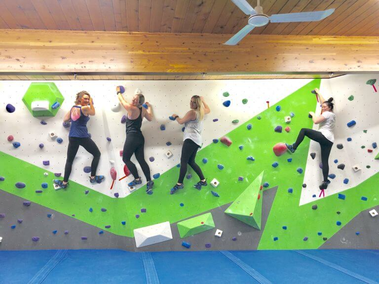 Girls Night Out at Coulee Climbing